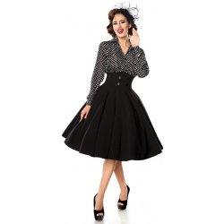 TopMode pin-up kolová sukně černá