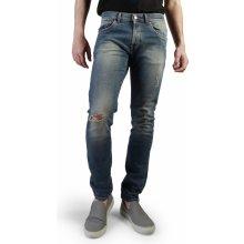 Pánské modré oprané džíny Carrera Jeans s dírami modrá