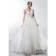 10bf938495c Helen Fontaine svatební tylové šaty se zlatými aplikacemi HFW2742