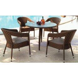 umělý ratanový nábytek MIKI křeslo, stůl