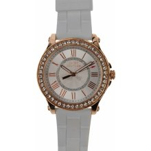 Juicy Couture Pedigree Watch Ld84 White/Rose Gold