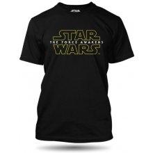 Star Wars VII. The Force Awekeness Logo pánské tričko