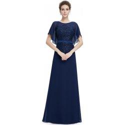 Ever Pretty dlouhé šaty s netopýřími rukávy EP08775NB námořnicky modrá 206fcd652f