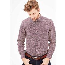 s.Oliver pánská košile regular fit dlouhý rukáv bordó 55aafcbee4