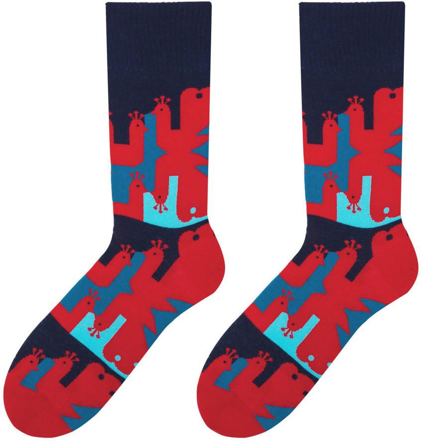 3701eeebe2a Veselé pánské ponožky Peacock červené od 99 Kč - Heureka.cz