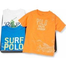 Ralph Lauren trička 3-Piece Gift Set oranžová