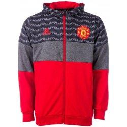 4d41d784b49 Adidas Mens MUFC Full Zip Fleece Hoody Red