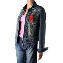 Crown Mae Dámska modrá džínová bunda