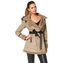 Buffalo dámskÝ zimní KABÁT S BERÁNKEM BUFFALO kabát béžový