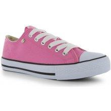 Dunlop Canvas Low juniorské Trainers pink/white