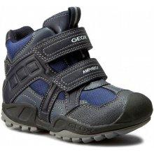 Geox Chlapecké zimní boty New Savage - modro-šedé