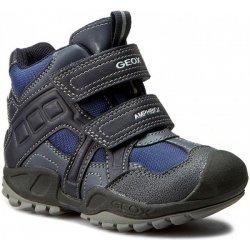 Dětská bota Geox Chlapecké zimní boty New Savage modro-šedé 1ab63a3f08