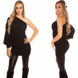4bf6ad1a5ec4 Dámské šaty Koucla dámské pletené šaty s jedním rukávem černá