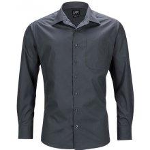 James   Nicholson pánská košile s dlouhým rukávem JN642 Tmavě šedá e35b215baa