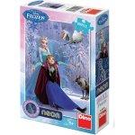 DINO Svítící puzzle 100 dílků Ledové království XL