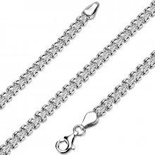 Silvego Stříbrný náhrdelník pro ženy rhodiovaný STT-136N