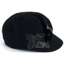 4c4cf354f3f Art of Polo Vlněná čapka s květy černá