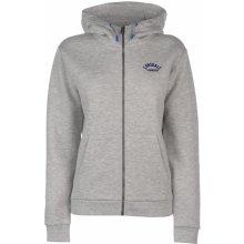 Lonsdale Zip Hoodie Ladies Grey Marl 2736b2a855