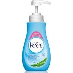 Veet depilační krém Aloe Vera Vitamínem E pro citlivou pokožku 400 ml pumpička