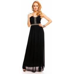 Dlouhé plesové šaty zdobené kamínky černá alternativy - Heureka.cz 54b601b8bf