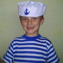 Dětské námořnické tričko s krátkým rukávem