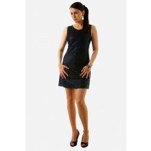 f6a48c4b048 Dámské krátké koženkové šaty s širokými ramínky 10408 černá