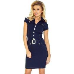 1ff3114dd380 Dámské šaty Numoco dámské šaty s knoflíky 142-2 tmavě modrá