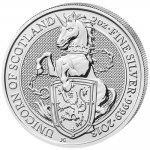 The Queen's Beasts Investiční stříbro stříbrná mince 5 Pounds The Unicorn of Scotland 2 Oz 2018