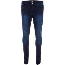 Ze Enzo 989 Mens Super Skinny Stretch Jeans Dark Blue