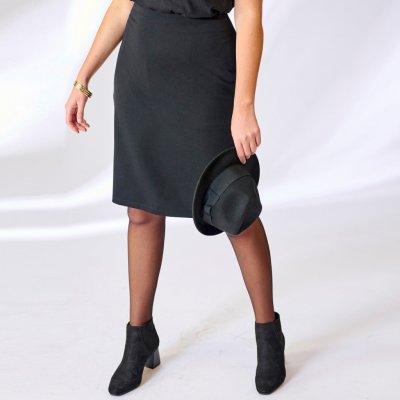 Blancheporte rovná sukně z úpletu Milano černá