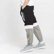 Mass DNM Respect Sweatpants černé / melange šedé / bílé