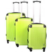 Malatec 4097 Sada 3 Cestovních kufrů ABS, M/L/XL zelená