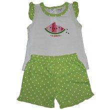 Wolf Dětské dívčí tričko + kraťasy S2022 Zelené