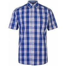 Pierre Cardin Cardin Short Sleeve Checked Shirt pánské Blue/White