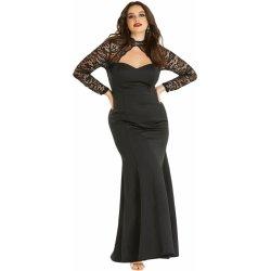 Dámské společenské šaty pro plnoštíhlé s krajkovými rukávy 19c53c4768
