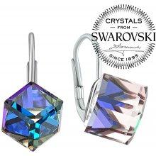 e723480d3 Silvego náušnice kostečky s krystalem Swarovski Bermuda blue VSW043E