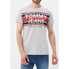 Tommy Hilfiger pánské šedé tričko Stripe 057a4918953