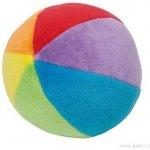 Goki Plyšový duhový míček s chrastítkem