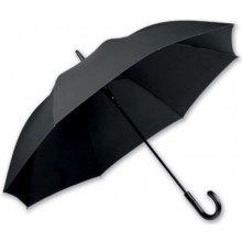 pánský holový deštník SANTINI černý rukojeť imitace kůže