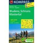 Knihkupectví Mapy, průvodce glóbusy Turistika, mapy Zahraničí Evropa Rakousko Mapa Bludenz Schruns Klostertal 1: 50 tis.