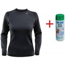 Devold Expedition dámské triko s dl. rukávem černé