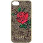 Pouzdro Guess 4G Flower Desire Zadní Kryt iPhone 7/8 hnědé
