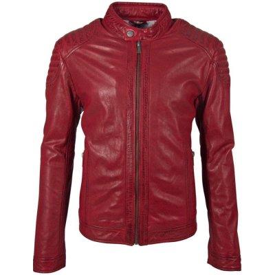 Deercraft pánská kožená bunda Pier červená