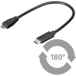 PremiumCord kur31-02 USB 3.1 konektor C/male - USB 2.0 konektor Micro-B/male, 0,2m