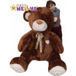 Baby Nellys XXL MAXI Plyšový Medvěd tmavě hnědý 190 cm