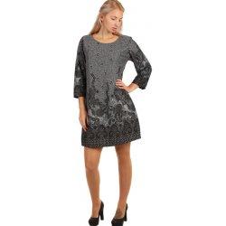 YooY vzorované šaty áčkového střihu i pro plnoštíhlé světle šedá od ... f3840ce2fd