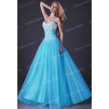 Grace Karin luxusní plesové a společenské 16GK modrá