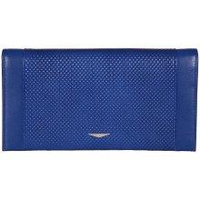 GIUDI pánská modrá kožená peněženkadokladovka 7435