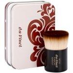 Da Vinci Kabuki štětec na make-up a pudr + kovové pouzdro No. 9710