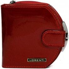 Lorenti Dámská malá kožená italská peněženka červená 01 13 SH RED